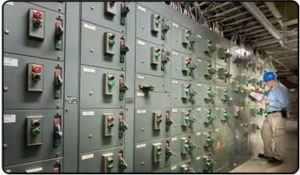 image of an industrial electrical panel